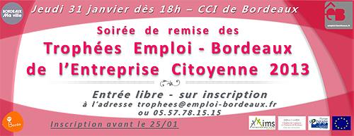 Trophées Emploi-Bordeaux de l'Entreprise Citoyenne 2013