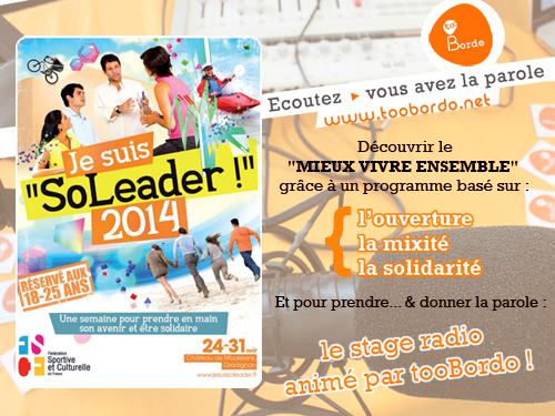 Je suis soleader 2014, Fédération Sportive et Culturelle de France