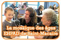 La mosaïque des âges à l'EHPAD de Saint-Macaire