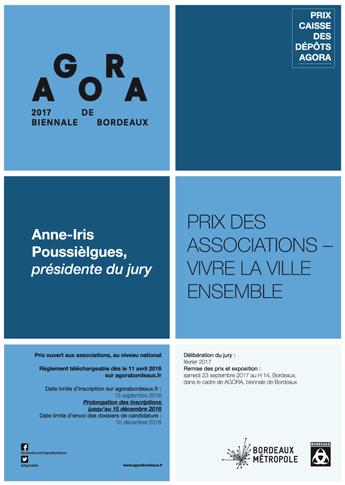 Prix Caisse des Dépôts AGORA 2017 - Bordeaux