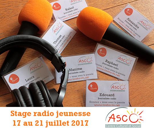 Atelier radio pour les jeunes - Bordeaux, Gironde -