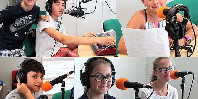 Stage radio avec les jeunes de l'ASCO de Saint-Médard-en-Jalles, juillet 2017