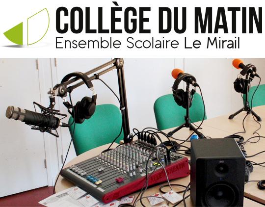 Ateliers radio avec les jeunes du Collège du Matin Le Mirail - Bordeaux