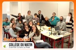 1ère saison de Radio Mirail,  les ateliers radio avec les jeunes du Collège du Matin de l'Ensemble Scolaire Le Mirail Bordeaux – 2018