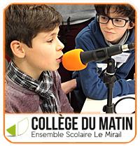 La radio des jeunes du Collège du Matin de l'Ensemble Scolaire du Mirail Bordeaux