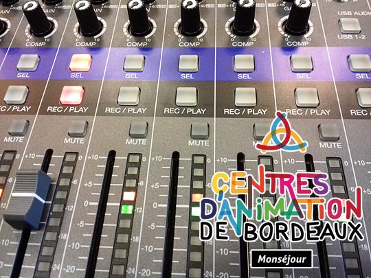 Ateliers radio avec les jeunes du centre d'animation Monséjour Bordeaux