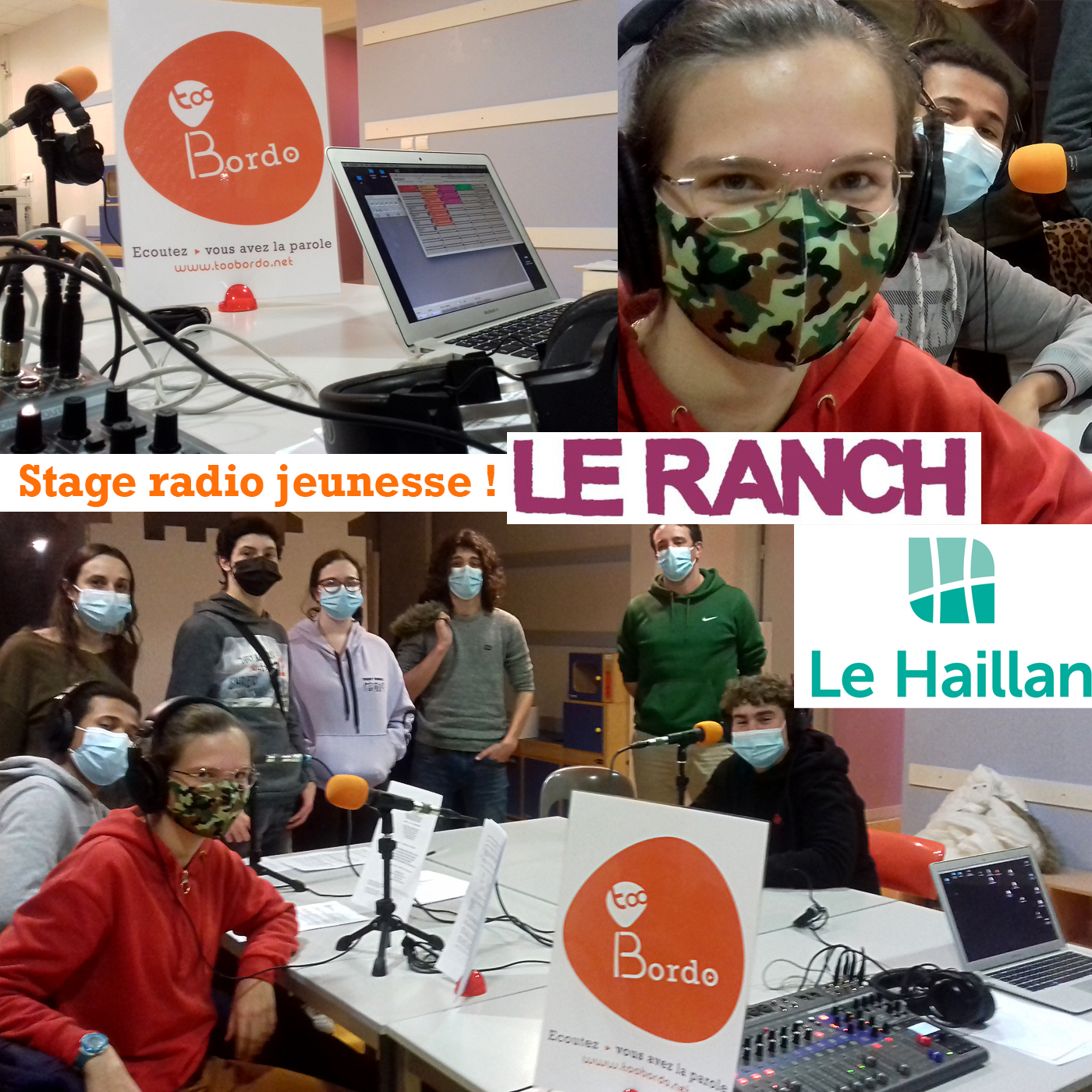 Webradio tooBordo : Stage radio avec les jeunes du Ranch du Haillan