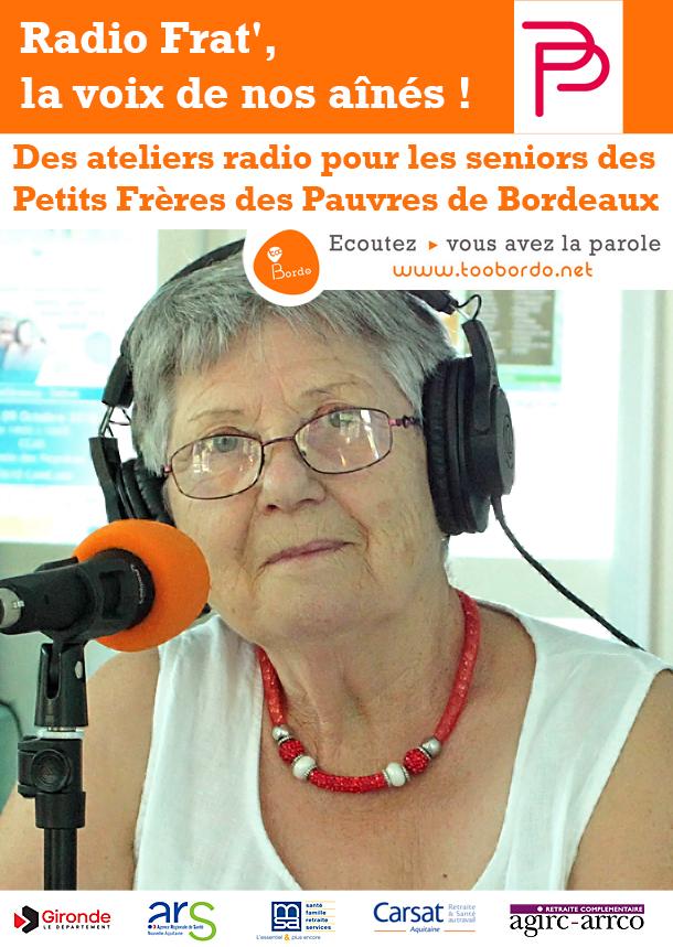 webradio tooBordo : Ateliers radio pour les seniors des Petits Frères des Pauvres Bordeaux